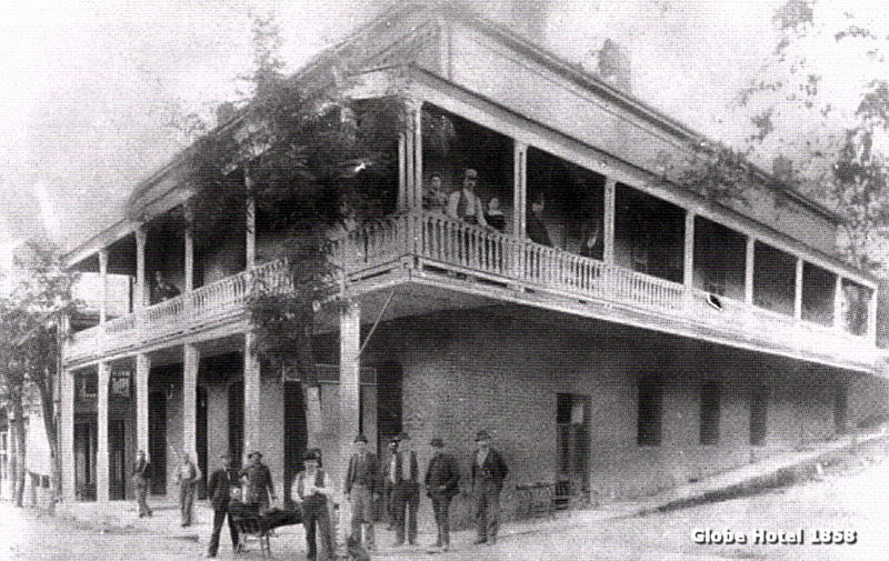 The Globe Hotel Was Built On Corner Of Main And Court Street In 1858 By Henry Trueb Which Is Two Story Structure Pictured Here